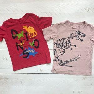 Two Boys 4T Dinosaur Tee Shirts